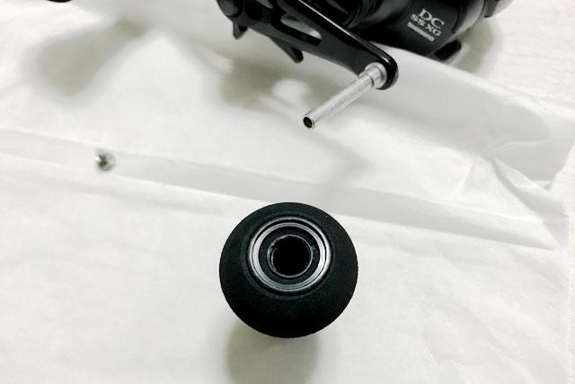 【ベイトリール ボールベアリング追加】エクスセンス DC SSのハンドルノブにボールベアリングを追加してみました!